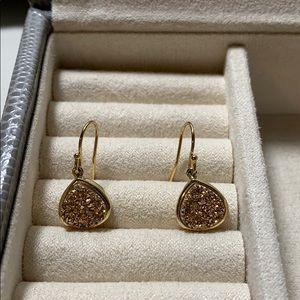 Rose gold Drusy earrings